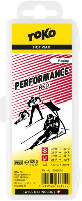 Vosk Toko Performance Hot Wax red 120gr.